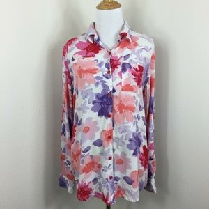 White Stag Women's Floral Long Sleeve Shirt Top M